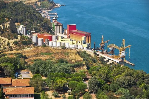 Industrial complex close to sea