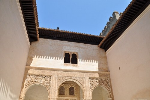Interior court in Alhambra palace