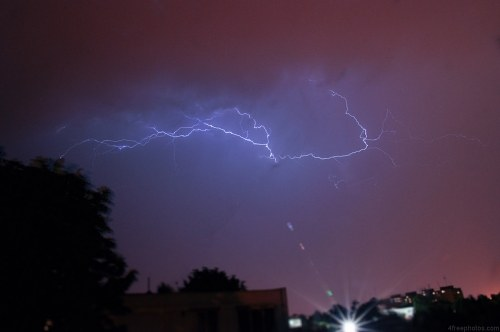 Free photos: Lightning over city