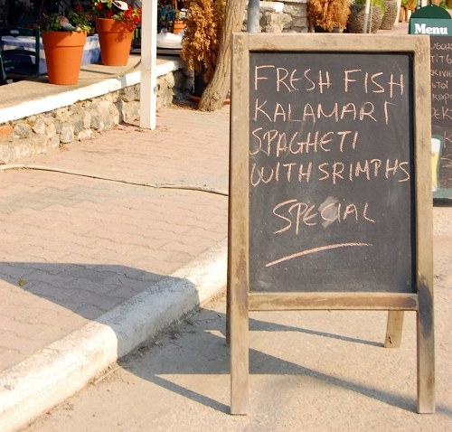 Free photos: Menu outside restaurant
