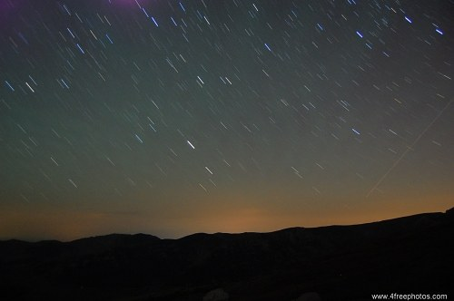 Free photos: Meteor on night sky