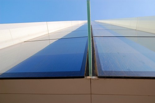 Modern building glass detail