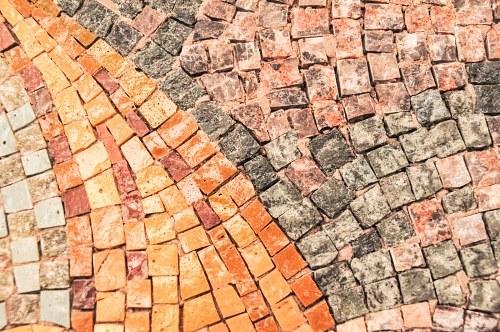 Multicolor stone tiles
