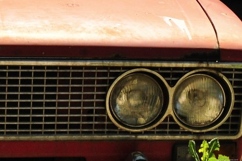 Old car headlights