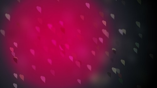 Pink heart lights