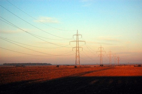 Free photos: Powerlines crossing fields