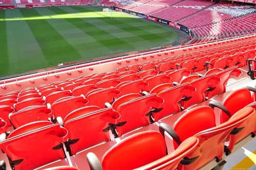 Red seats stadium