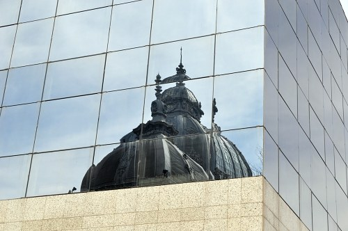Free photos: Reflection in building