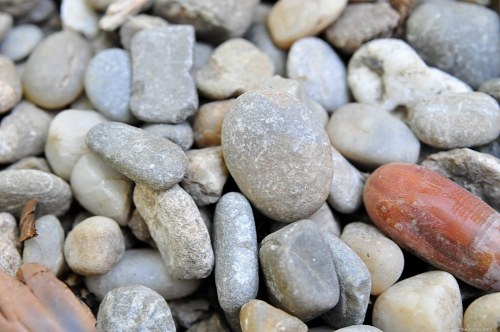 Riverbed stones texture