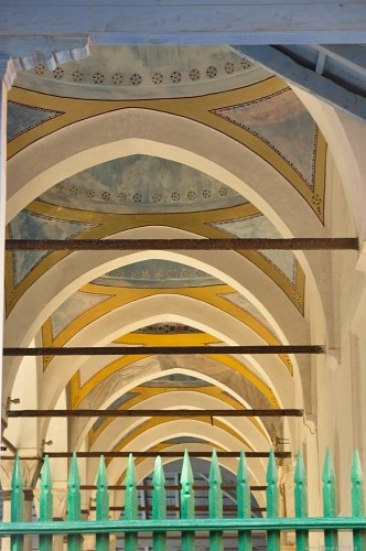 Row of colored arches