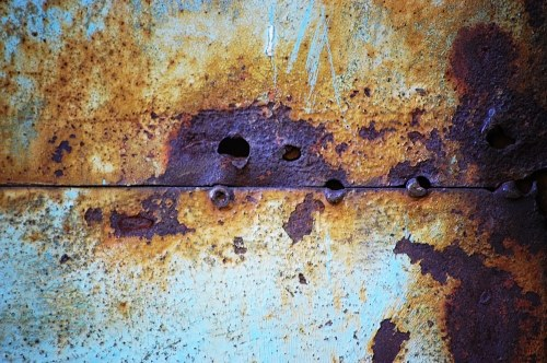Rust texture with weld marks