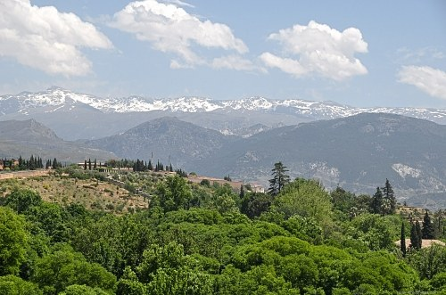 Spring landscape in Sierra Nevada mountains in Spain