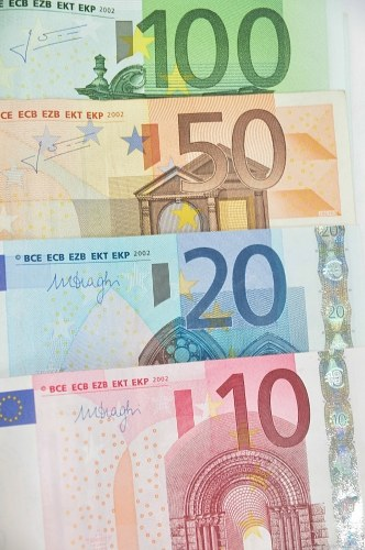 Stack of Euro banknotes