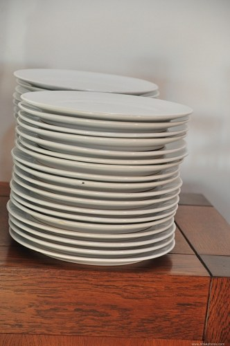 Stack of ceramic plates