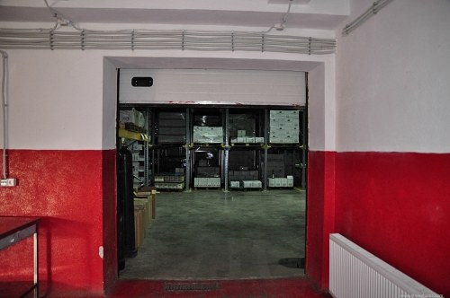 Storage warehouse door