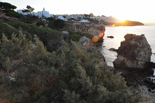 Sunrise over Albufeira resort