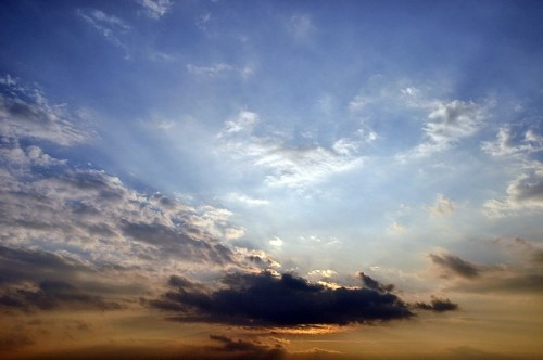 Free photos: Sunset sky with clouds