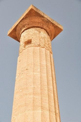 Tall greek column
