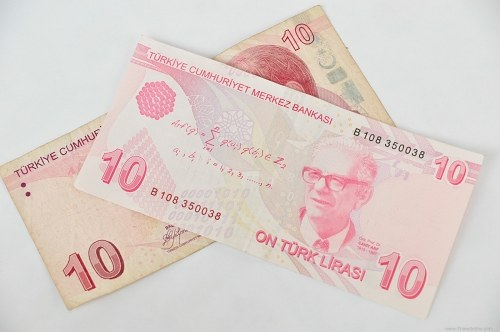 Ten turkish lira
