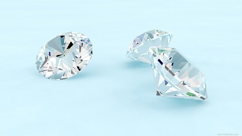 Free photos: Three diamonds isolated