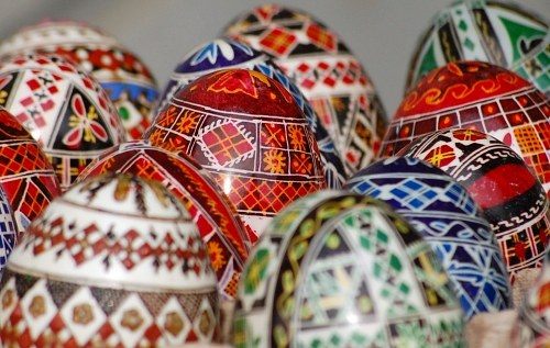Free photos: Traditionally painted Easter eggs