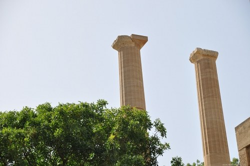 Two greek columns
