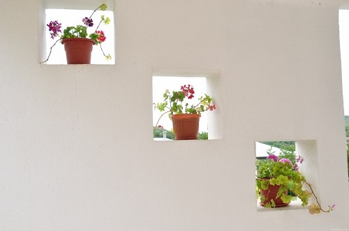 Free photos: Wall holes with pots
