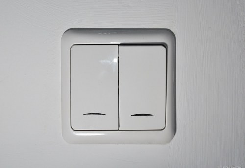 White light switch in wall