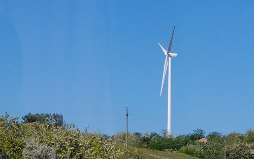 Wind turbine  on hill