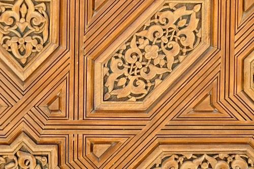 Wood carving ornament
