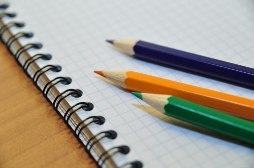 Free photos: Writing instruments and notebook
