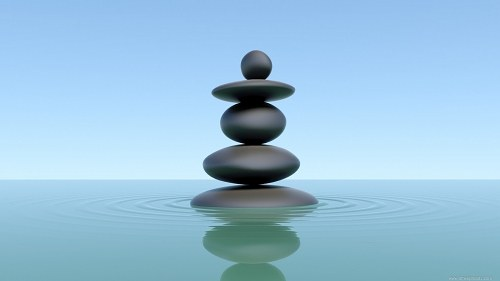 Free photos: Zen stones reflecting in water
