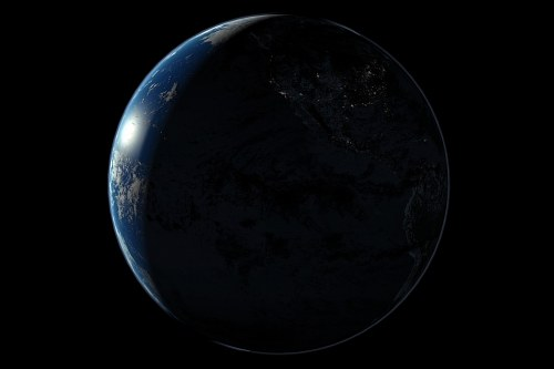 Earth at night US