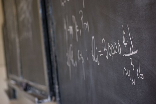 Formula on blackboard free photo