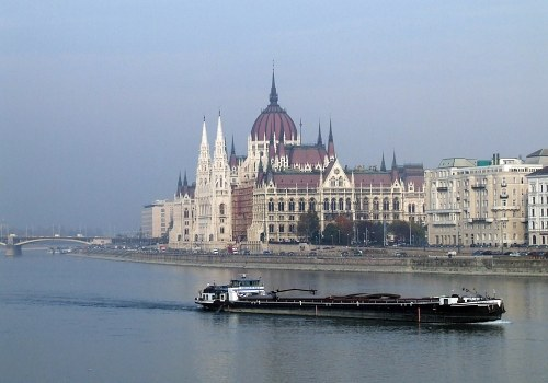 Barge on Danube