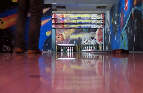 Free photos: Bowling interior arena
