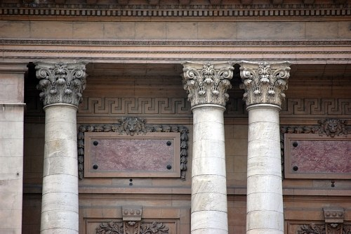 Building facade with columns