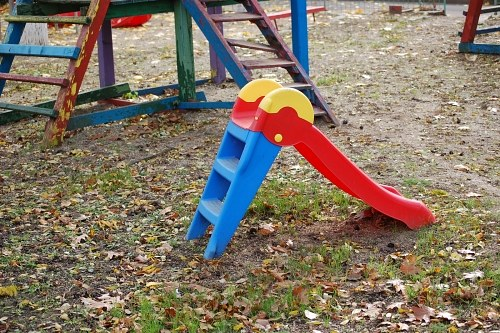 Colored plastic slide