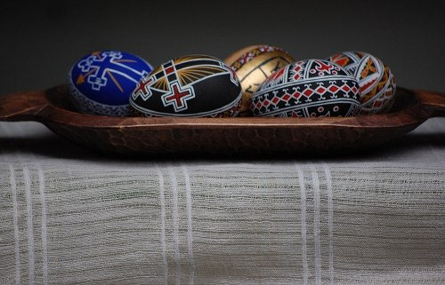 Easter eggs with traditional model