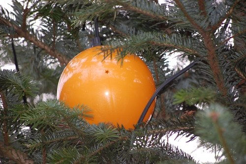 Green Christmas tree ball