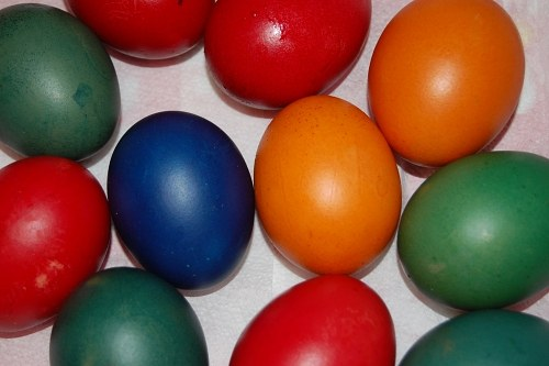 Multicolor easter eggs