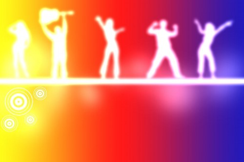 Free photos: Neon light people dancing
