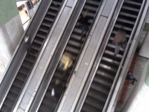 Free photos: People on escalator