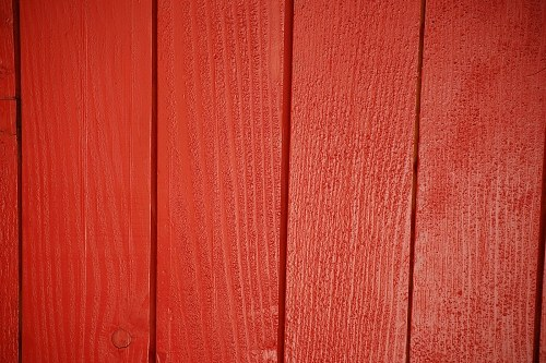 Red wooden boards