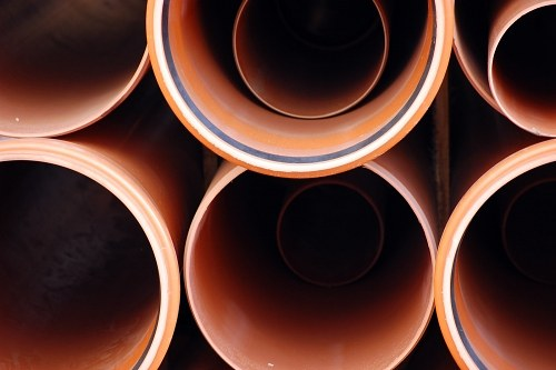 Round metal pipes