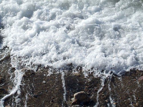 Sea wave foam