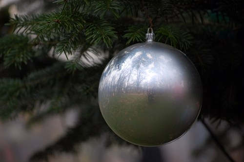 Free photos: Silver Christmas ball
