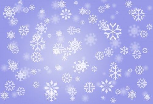 Snowflakes on blue light