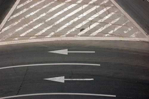 Street markings from above