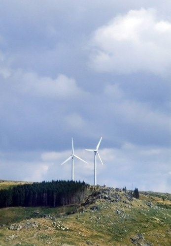 Free photos: Wind turbines on hill
